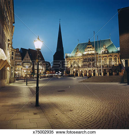 Stock Image of Streetlight in Public Square x75002935.