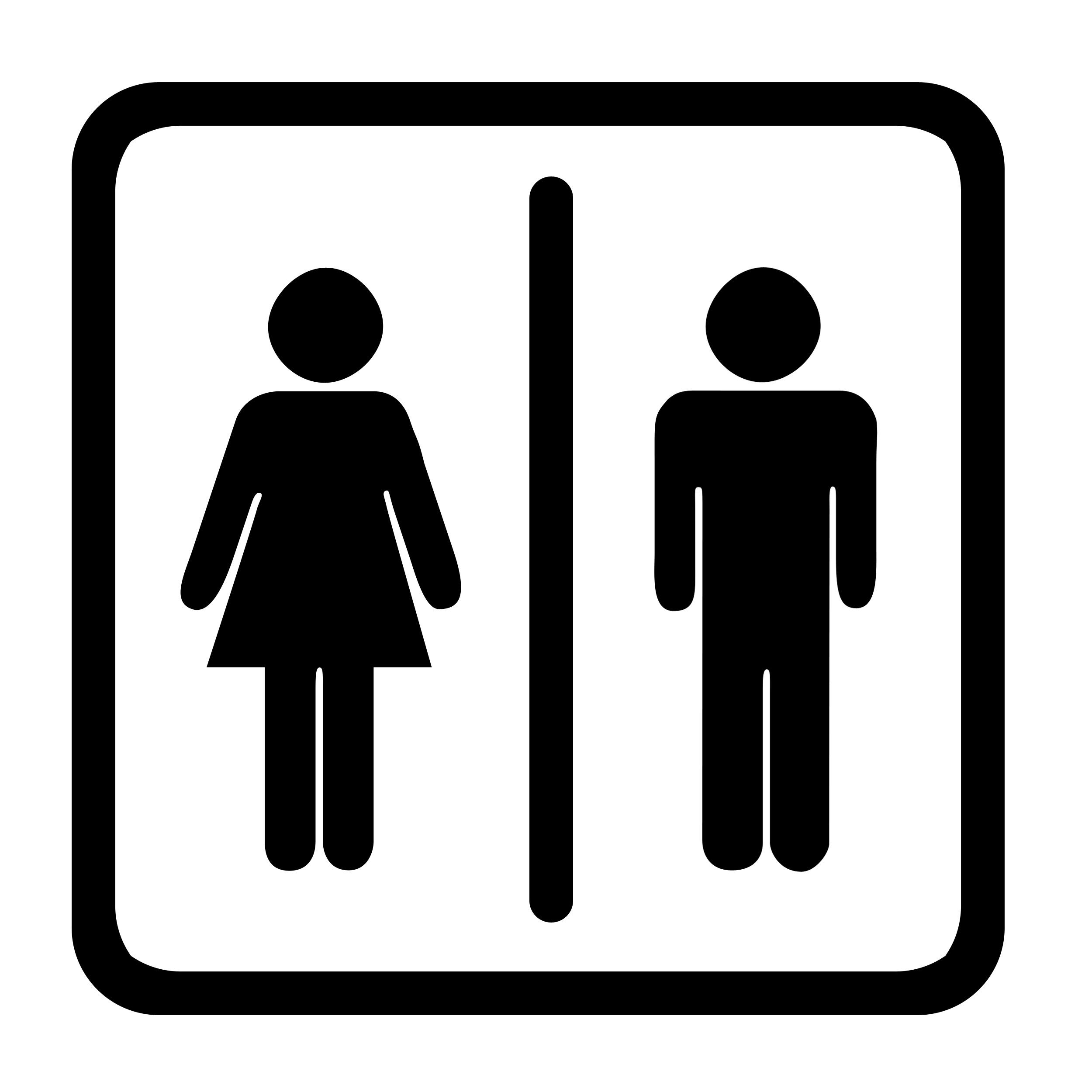 Public Toilet Symbol.