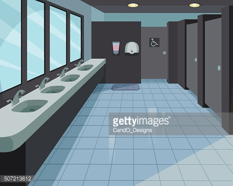 Public Toilet Vector Art.