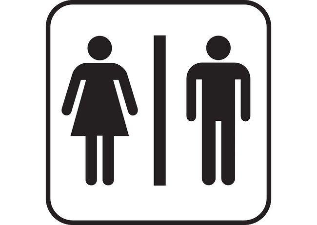Public Toilet Sign.