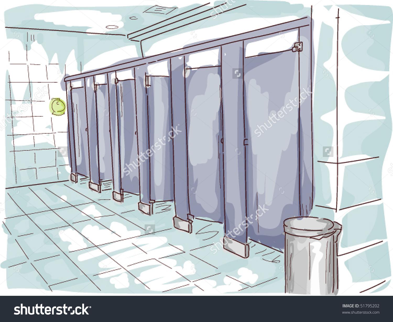 Public Toilet Vector Stock Vector 51795202.