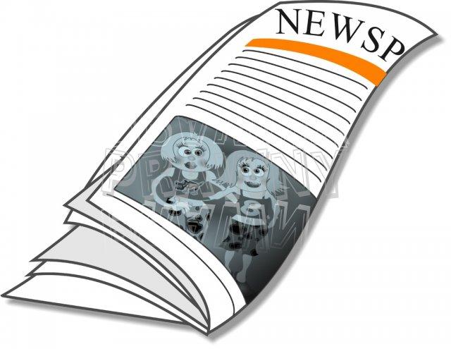 Newspaper Media Publication Clipart.