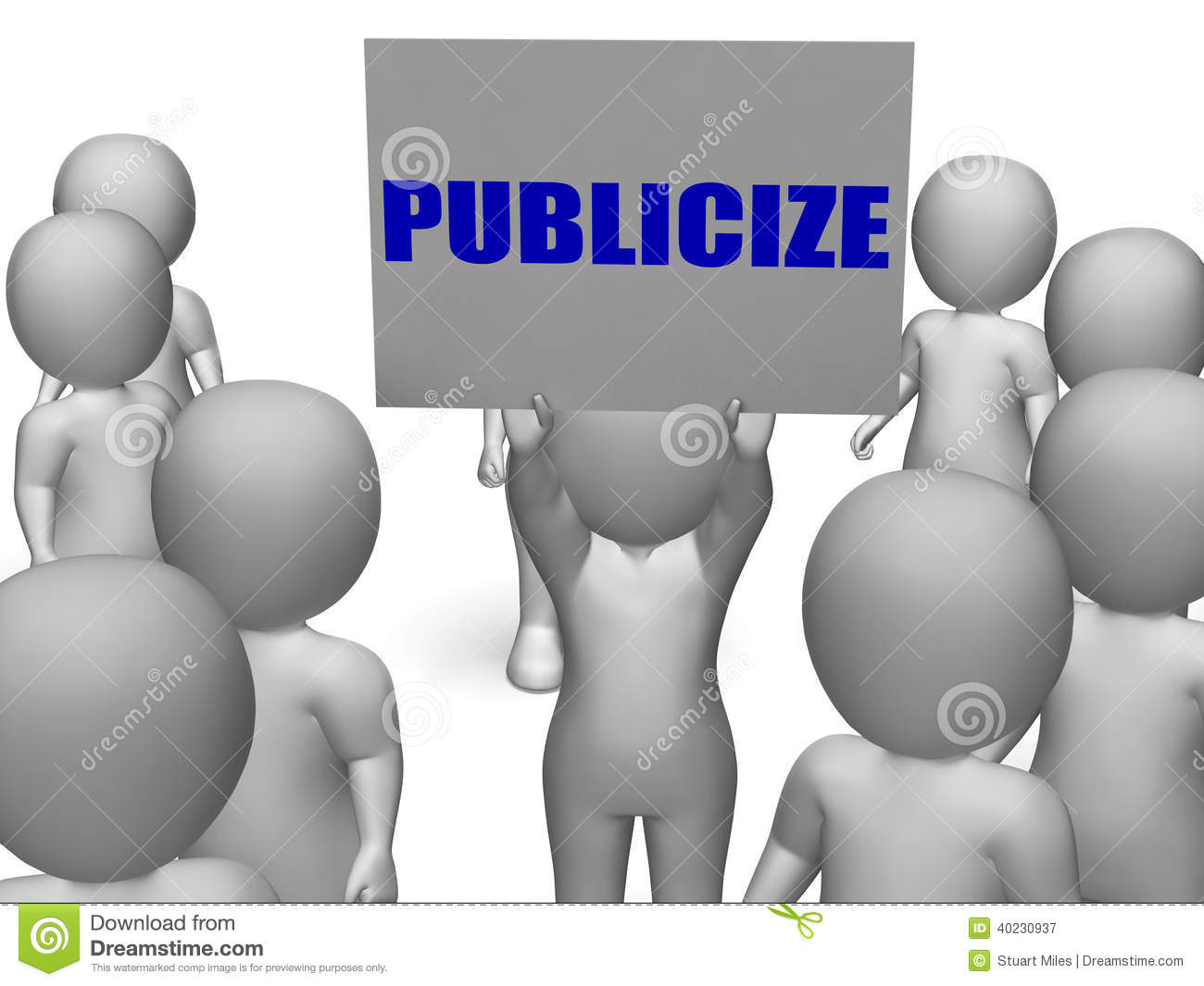 Publicize Board Character Means Commercial Stock Illustration.