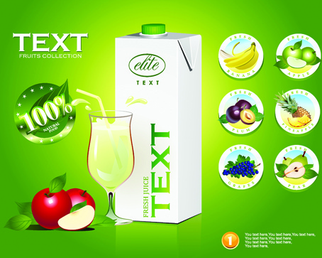 Juice advertisement publicize poster creative vector Free vector.