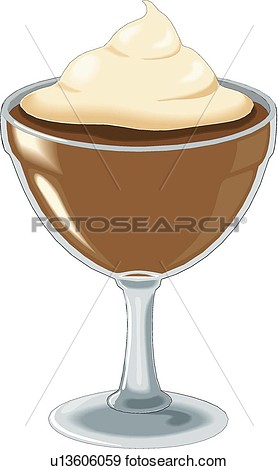Chocolate pudding clipart.
