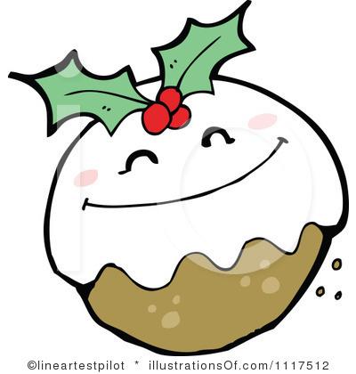 Christmas puddings clipart.