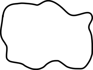 Mud Puddle Clip Art Black and White.