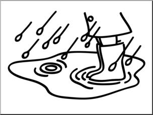 Clip Art: Basic Words: Puddle B&W Unlabeled I abcteach.com.