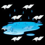 Rain puddle clipart.