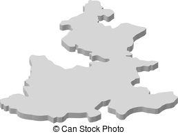 Map of puebla Vector Clipart Royalty Free. 17 Map of puebla clip.