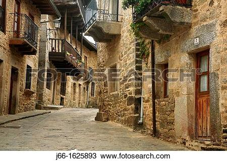 Stock Photo of Puebla de Sanabria street Zamora j66.