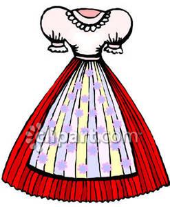 Peasant Dress Clipart.