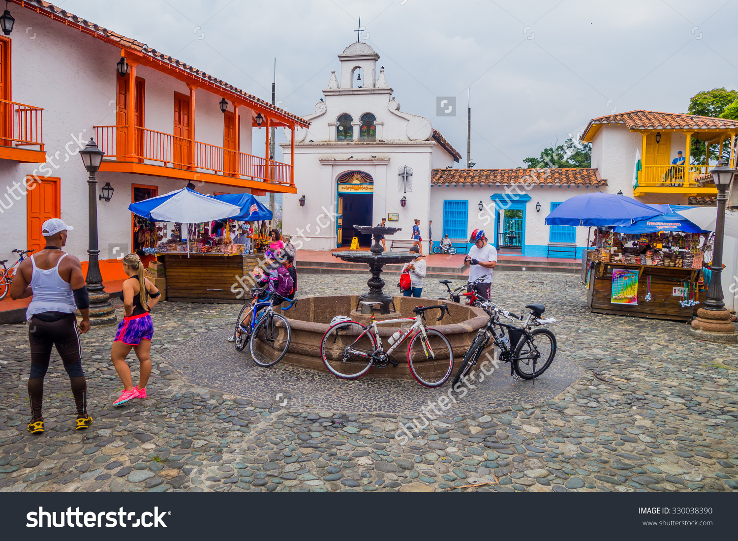 Medellin Colombia February 24 2015 Pueblito Stock Photo 330038390.