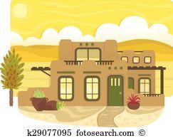 Pueblo Clip Art and Illustration. 25 pueblo clipart vector EPS.