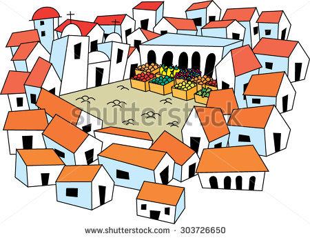 Pueblo Stock Vector Illustration 303726650 : Shutterstock.