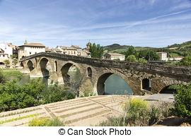Stock Images of Puente la Reina Bridge. Puente la Reina, Navarra.