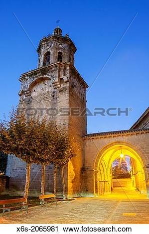 Stock Photography of St. James way; Church of the Crucifix at.