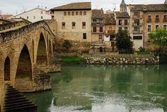 Puente La Reina Stock Photo.