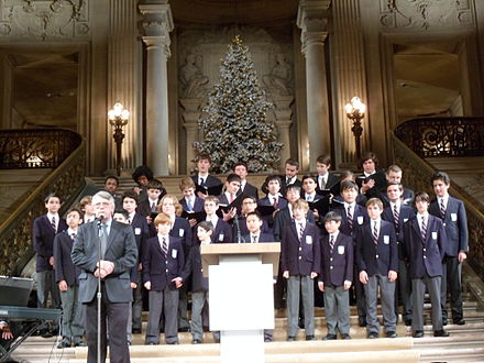 Choirs of children.