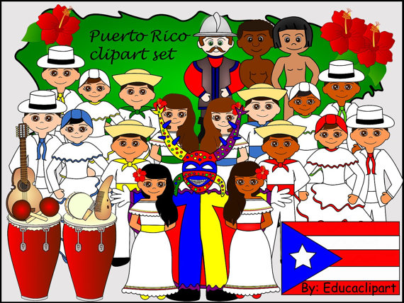 Puerto Rico Culture Clip Art.