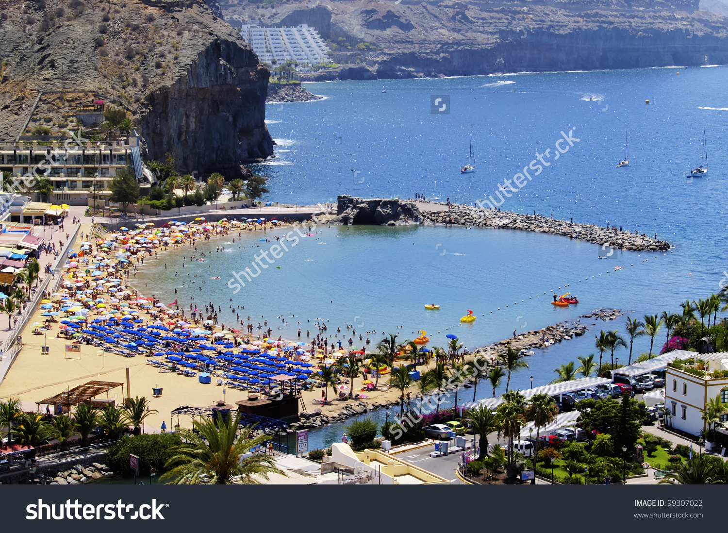 Puerto Mogan Gran Canaria Canary Islands Stock Photo 99307022.