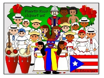 Puerto Rico clipart set.