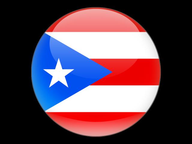Round icon. Illustration of flag of Puerto Rico.