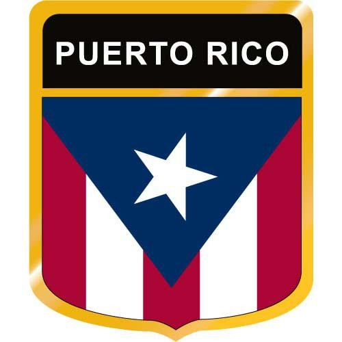 Puerto Rico Flag Crest Clip Art.