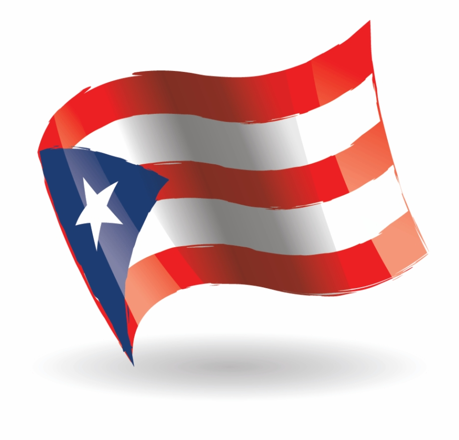 Puerto Rico Flag Waving.