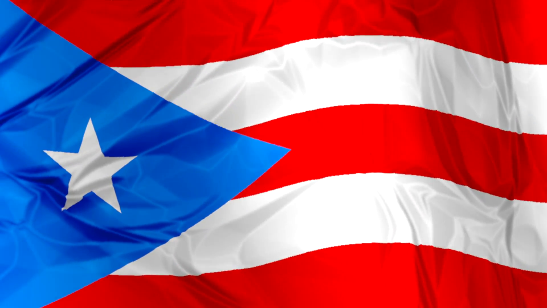 3D waving Puerto Rico flag background red, blue and white colors, Latin  America Caribbean Motion Background.