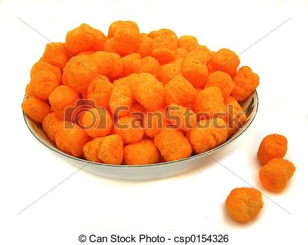 Stock Image of cheese balls.