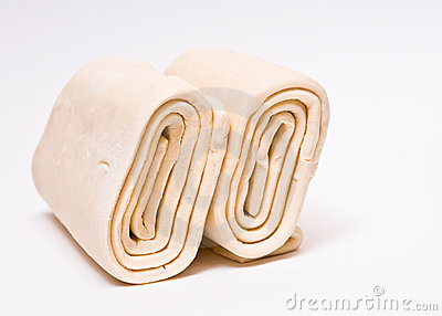 Frozen Puff Pastry. Stock Images.