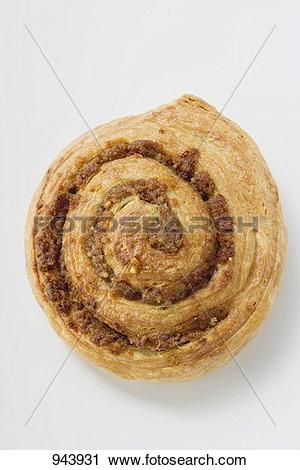 Stock Photography of A Danish pastry snail with nut filling 943931.