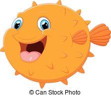 Puffer fish clip art.