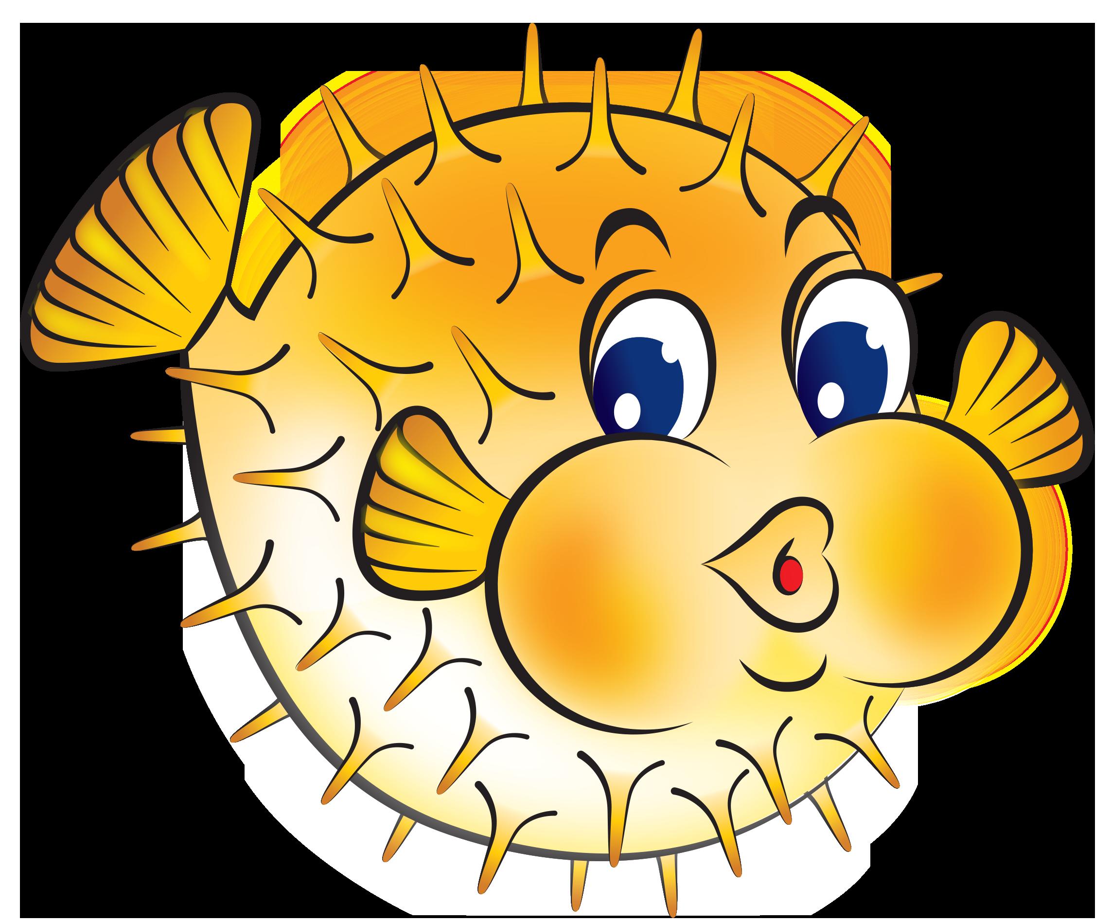 Best Puffer Fish Clip Art #24200.