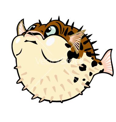Cute Puffer Fish Clipart.