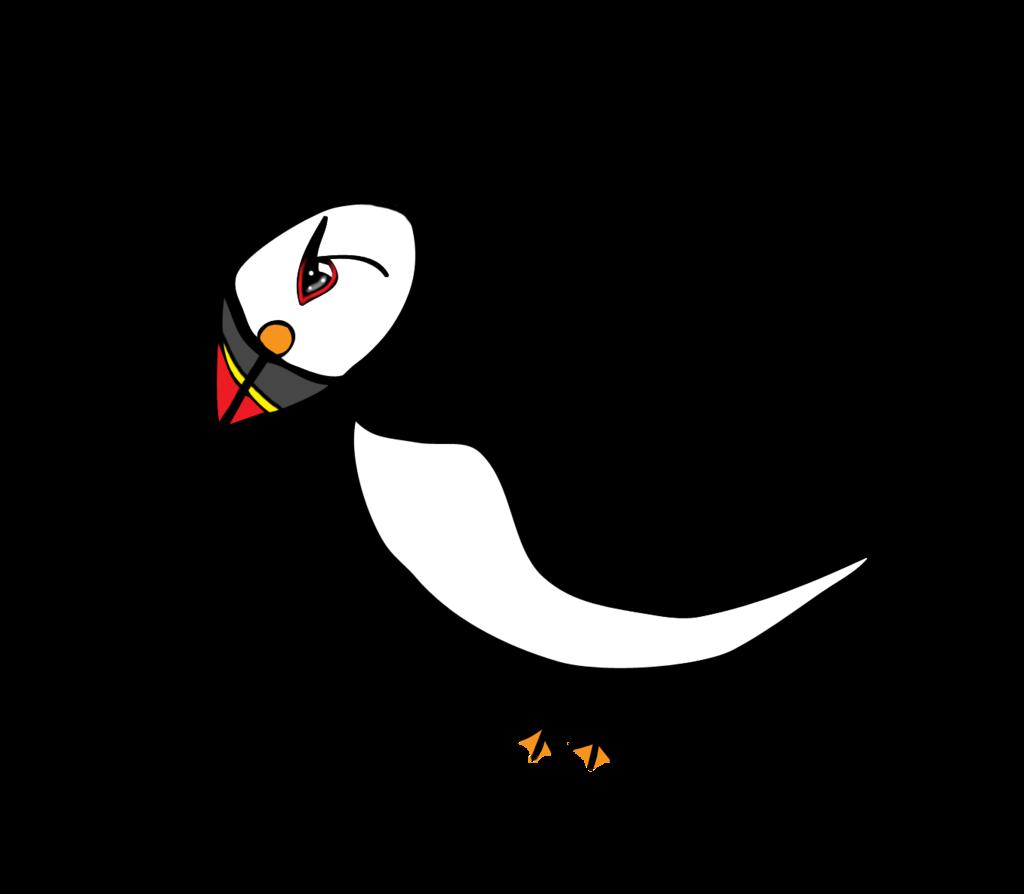 Cartoon puffin clipart.