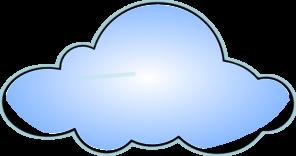 Puffy cloud clipart.