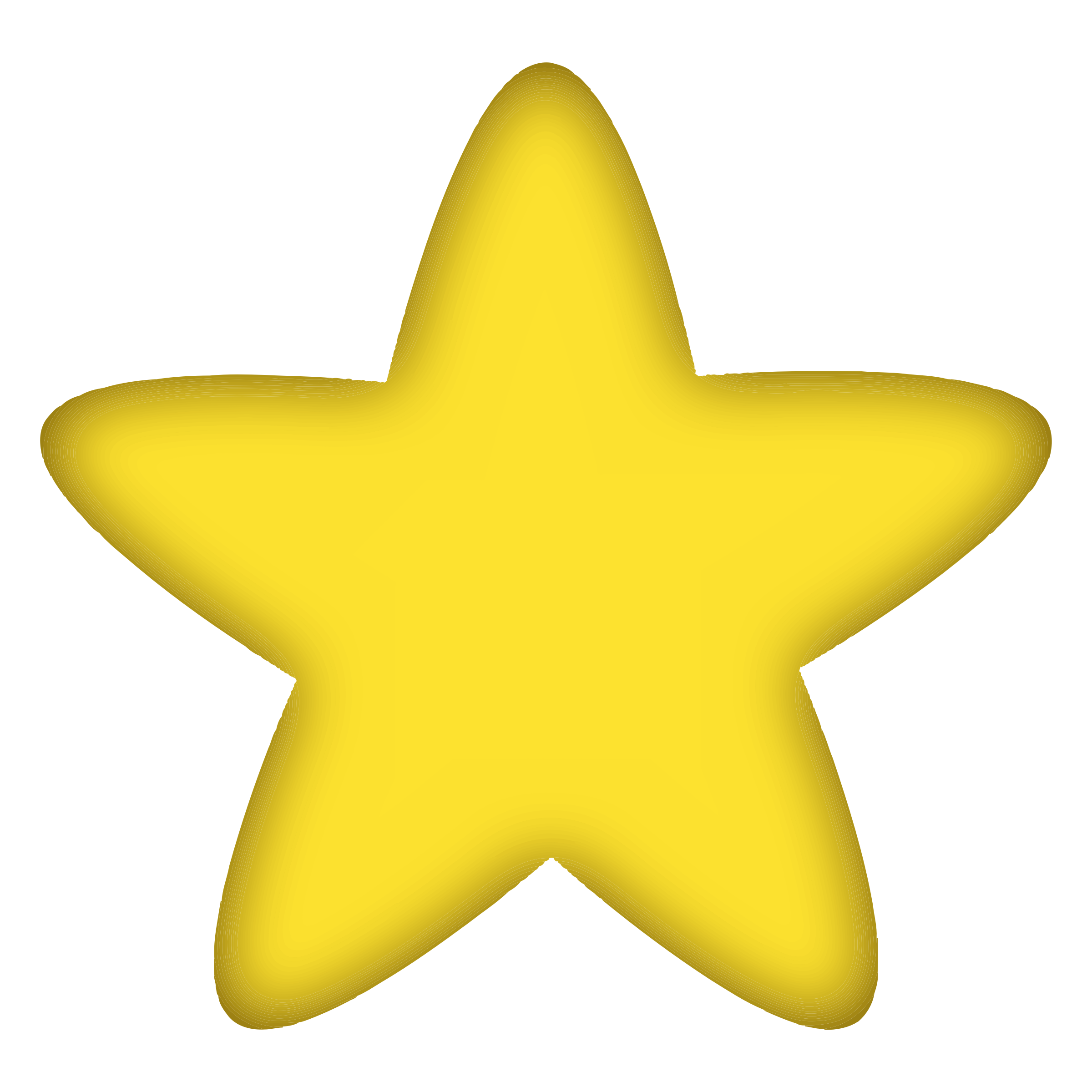Puffy star clipart images.