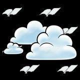 Puffy Clouds Clip Art.