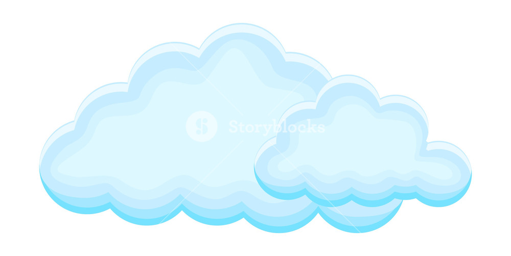 Fluffy Clouds Vector Royalty.