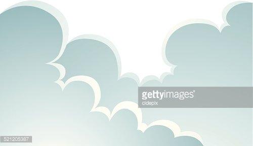 Puffy Clouds Cartoon premium clipart.