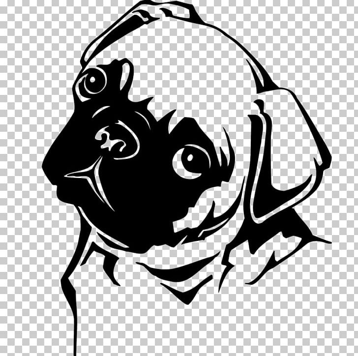 Pug Puppy PNG, Clipart, Animals, Art, Black, Black And White.