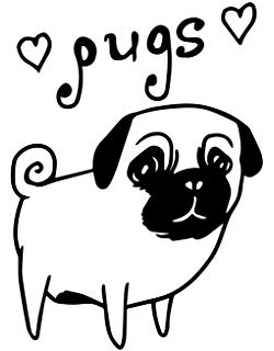 Pug Clipart Black And White (104+ images in Collection) Page 1.