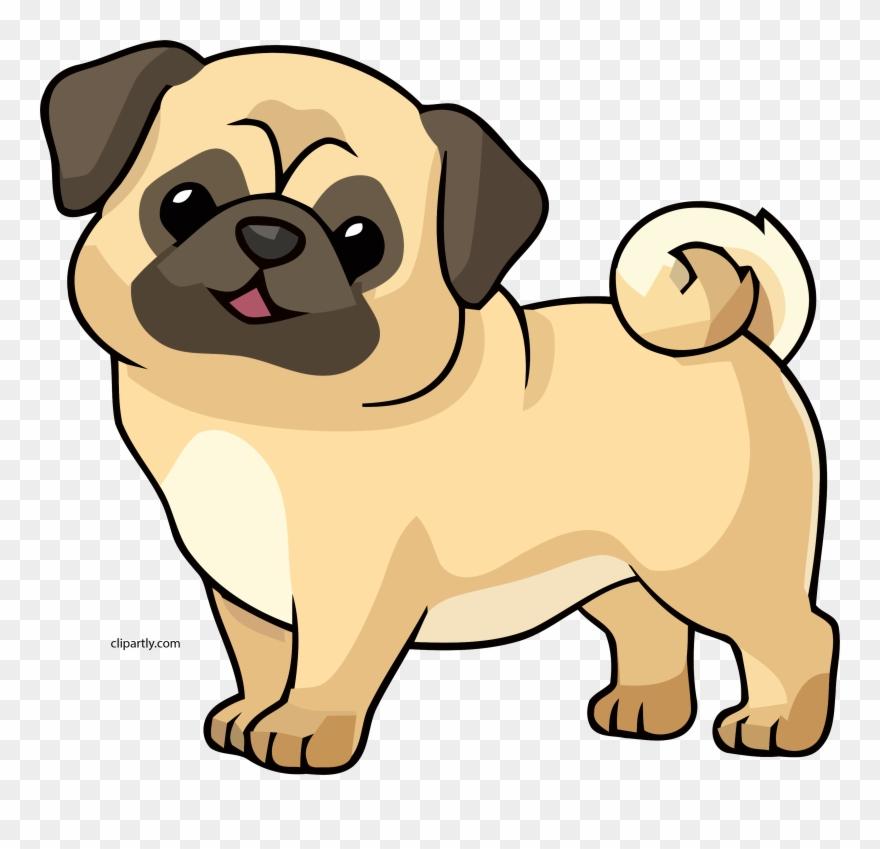 Navajowhite Color Dog Cute Chibi Clipart Png.