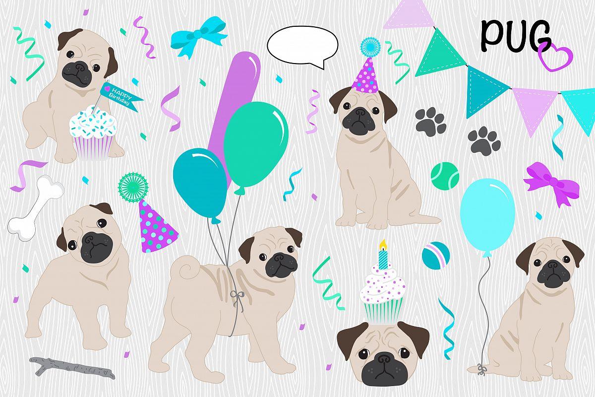 DOG CLIPART, Puppy Love Birthday Pack.