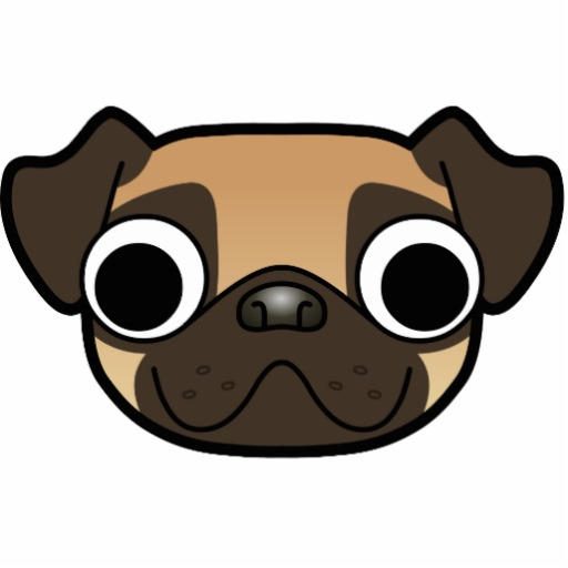 Pug clipart traceable.