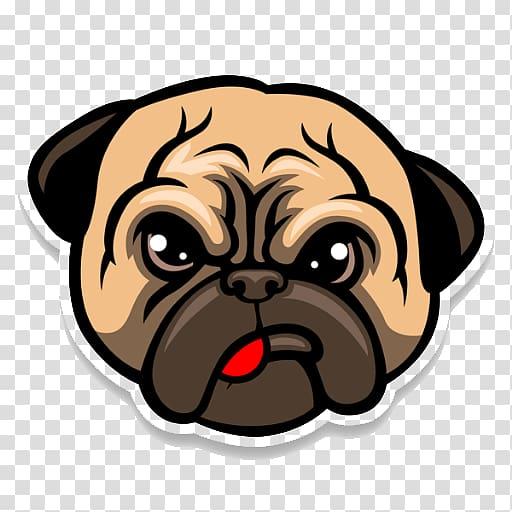 Pug face , Pug Bulldog Puppy Cartoon, Pug Life transparent.