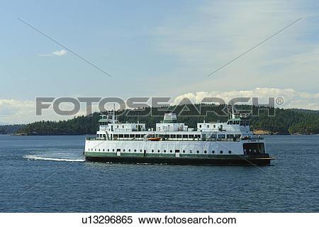 Stock Image of Orcas, WA, Washington, Puget Sound, San Juan.
