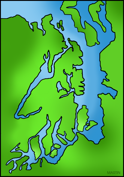 Free United States Clip Art by Phillip Martin, Puget Sound.